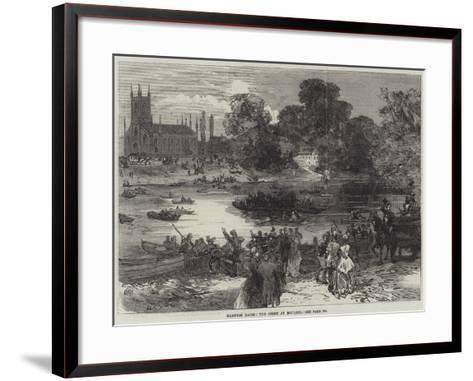 Hampton Races, the Ferry at Moulsey--Framed Art Print