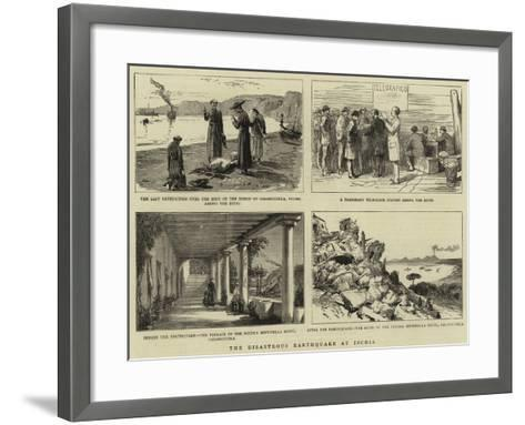 The Disastrous Earthquake at Ischia--Framed Art Print