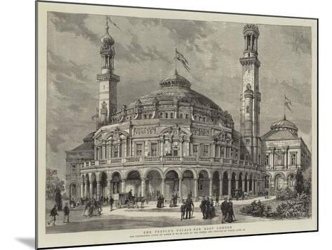 The People's Palace for East London--Mounted Giclee Print