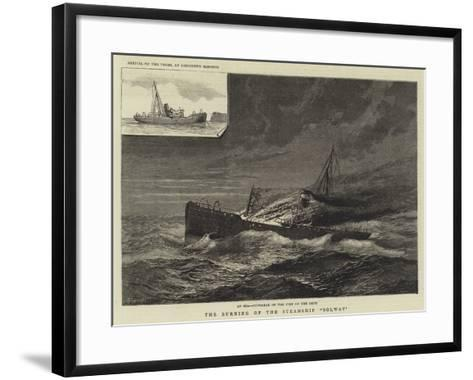 The Burning of the Steamship Solway--Framed Art Print