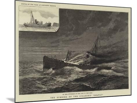 The Burning of the Steamship Solway--Mounted Giclee Print