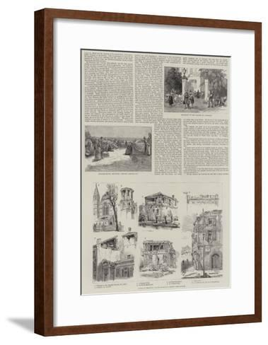 The Earthquakes in France and Italy--Framed Art Print