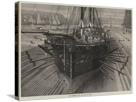 The Somerset Naval Dry Dock at Malta--Stretched Canvas Print