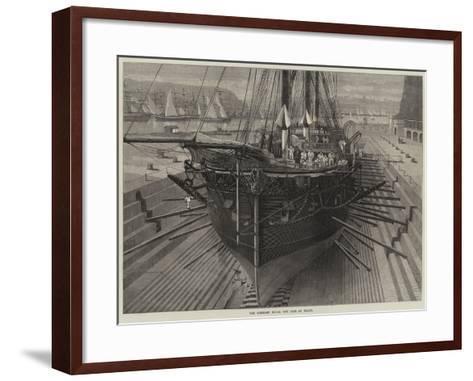 The Somerset Naval Dry Dock at Malta--Framed Art Print