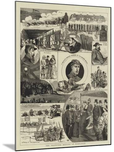 The Volunteer Meeting at Wimbledon--Mounted Giclee Print