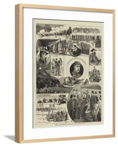 The Volunteer Meeting at Wimbledon--Framed Art Print