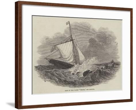 Loss of the Yacht Vectis, Off Bognor--Framed Art Print