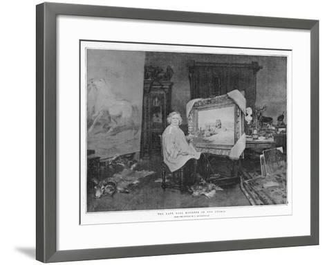 The Late Rosa Bonheur in Her Studio--Framed Art Print