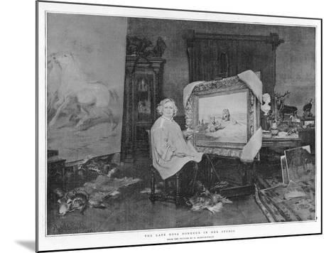 The Late Rosa Bonheur in Her Studio--Mounted Giclee Print