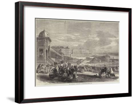 The Afternoon Promenade at Biarritz--Framed Art Print