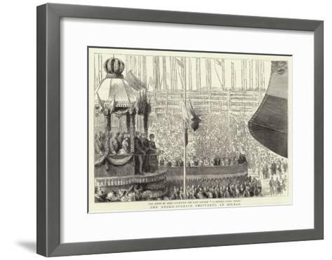 The Anglo-Spanish Shipyards at Bilbao--Framed Art Print