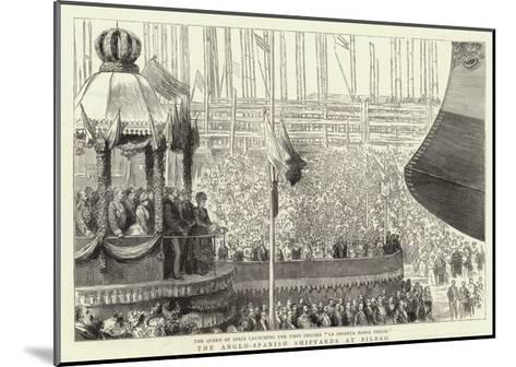 The Anglo-Spanish Shipyards at Bilbao--Mounted Giclee Print