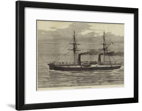 Our Ironclad Fleet, HMS Inflexible--Framed Art Print