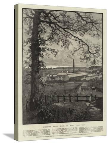 Advertisement, Joynson's Paper Mills--Stretched Canvas Print