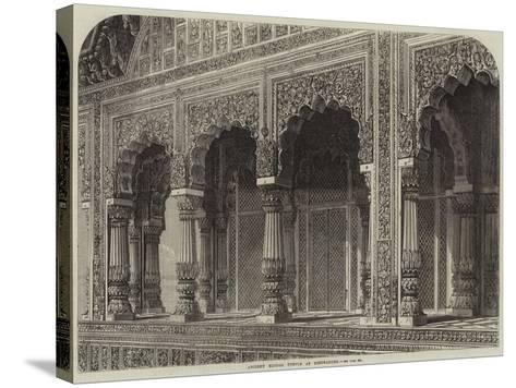 Ancient Hindoo Temple at Bindrabund--Stretched Canvas Print