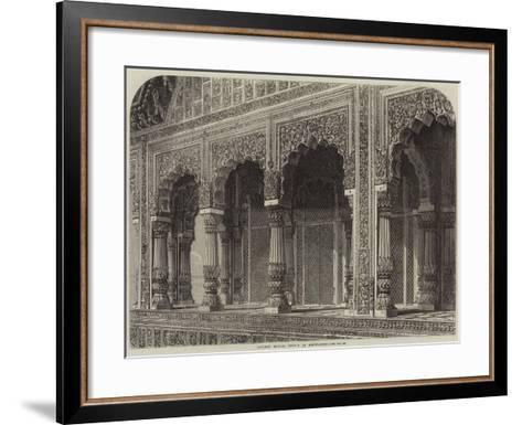 Ancient Hindoo Temple at Bindrabund--Framed Art Print