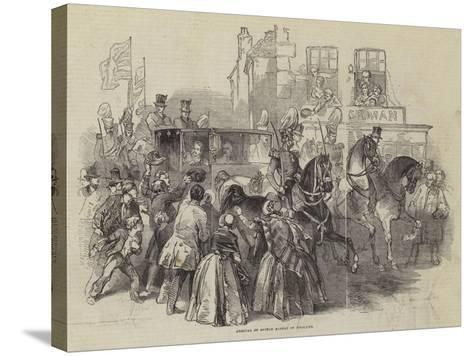 Arrival of Prince Albert in England--Stretched Canvas Print