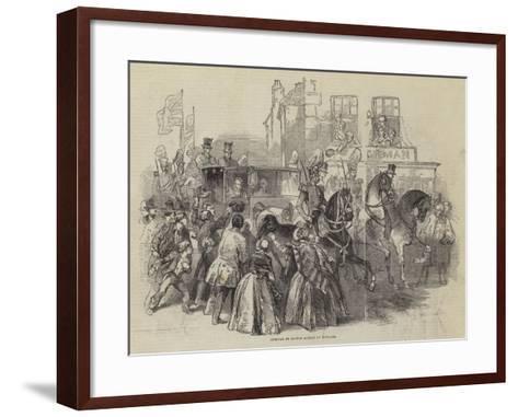 Arrival of Prince Albert in England--Framed Art Print