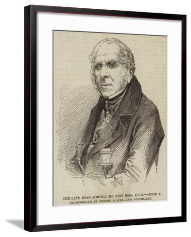 The Late Rear-Admiral Sir John Ross--Framed Art Print