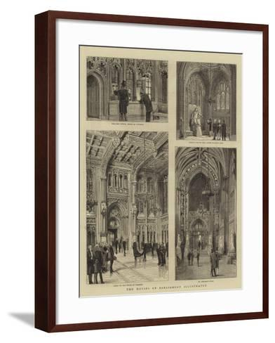 The Houses of Parliament Illustrated--Framed Art Print