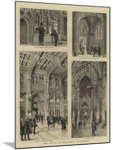 The Houses of Parliament Illustrated--Mounted Giclee Print