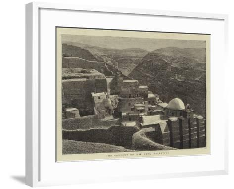 The Convent of Mar Saba, Palestine--Framed Art Print
