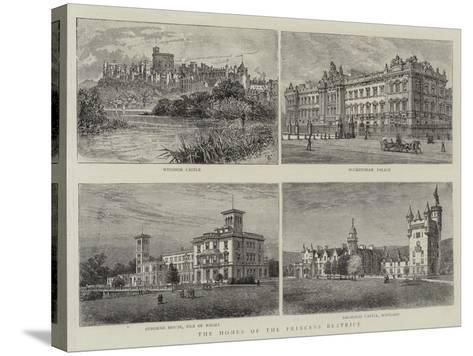 The Homes of the Princess Beatrice--Stretched Canvas Print