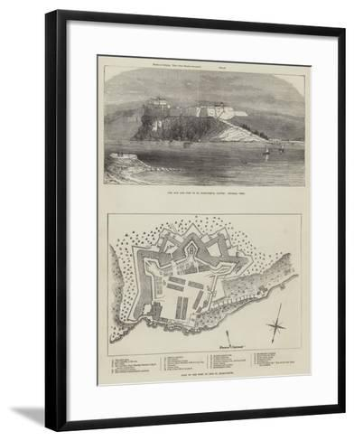 The Isle and Fort of St Marguerite--Framed Art Print