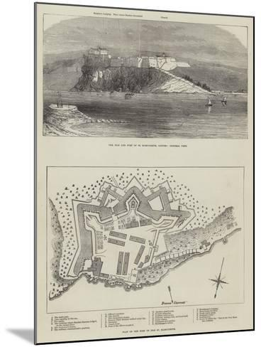 The Isle and Fort of St Marguerite--Mounted Giclee Print