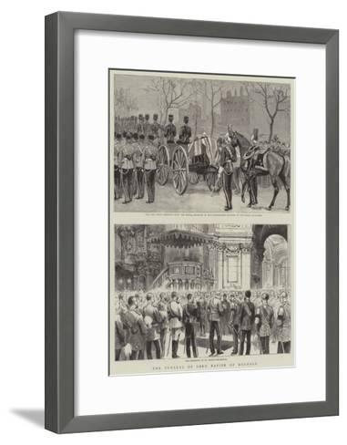 The Funeral of Lord Napier of Magdala--Framed Art Print