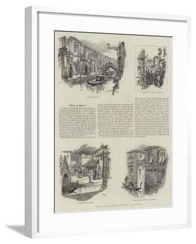 Venice in London, Sketches in Olympia--Framed Art Print