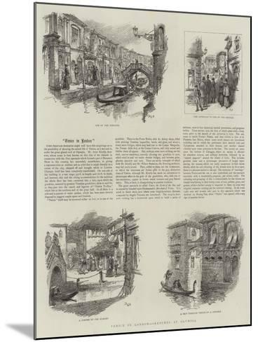 Venice in London, Sketches in Olympia--Mounted Giclee Print