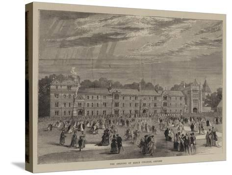 The Opening of Keble College, Oxford--Stretched Canvas Print