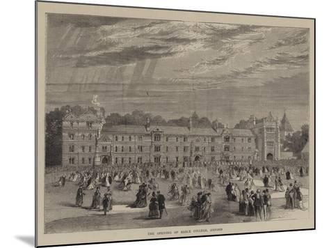 The Opening of Keble College, Oxford--Mounted Giclee Print