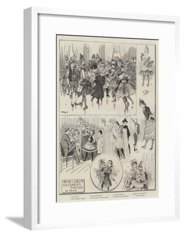 Mid-Lent Children's Parties in Paris--Framed Art Print