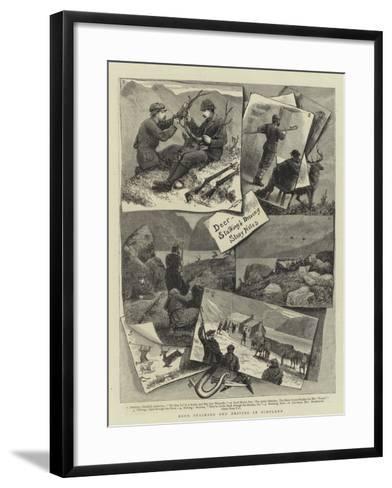 Deer Stalking and Driving in Scotland--Framed Art Print