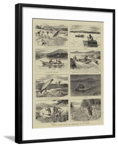 From Bala Lake to Chester in a Canoe--Framed Art Print