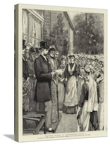 Hospital Nurses at Marlborough House--Stretched Canvas Print
