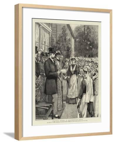 Hospital Nurses at Marlborough House--Framed Art Print