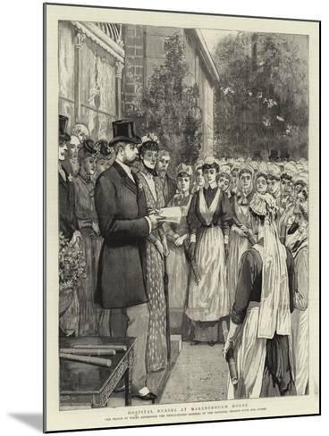 Hospital Nurses at Marlborough House--Mounted Giclee Print