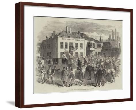 Epsom Races, 1846, The Spread Eagle--Framed Art Print
