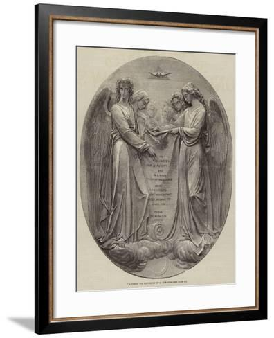 A Vision, a Bas-Relief by J Edwards--Framed Art Print