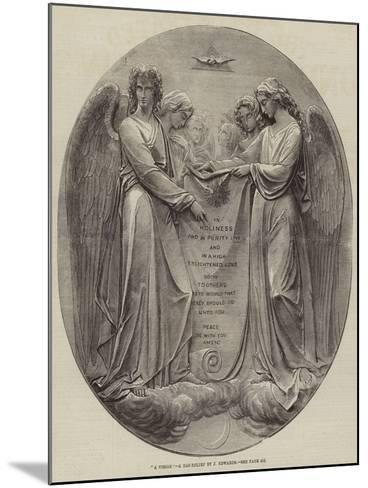 A Vision, a Bas-Relief by J Edwards--Mounted Giclee Print