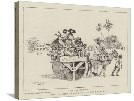 The Cricket Season in the West Indies--Stretched Canvas Print
