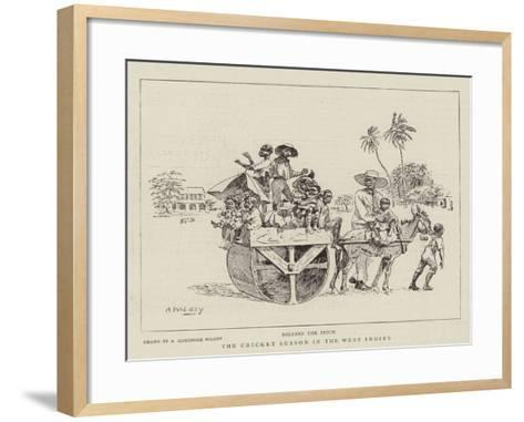 The Cricket Season in the West Indies--Framed Art Print
