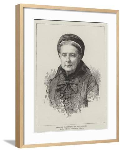 Princess Clementine of Saxe Coburg--Framed Art Print