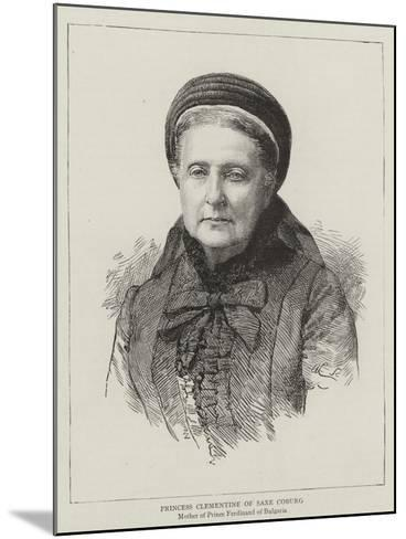 Princess Clementine of Saxe Coburg--Mounted Giclee Print