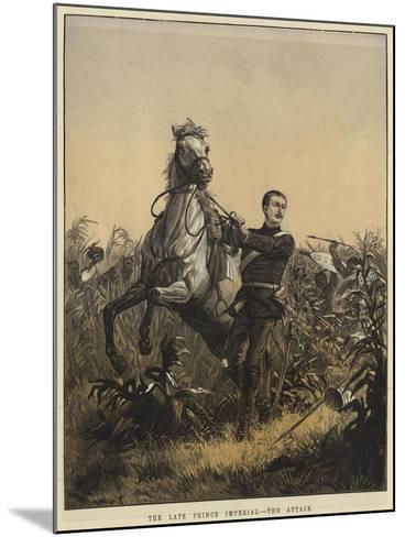 The Late Prince Imperial, the Attack--Mounted Giclee Print