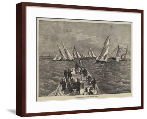 International Yacht-Race from Havre--Framed Art Print