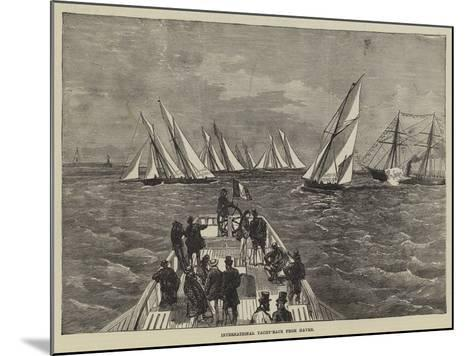 International Yacht-Race from Havre--Mounted Giclee Print